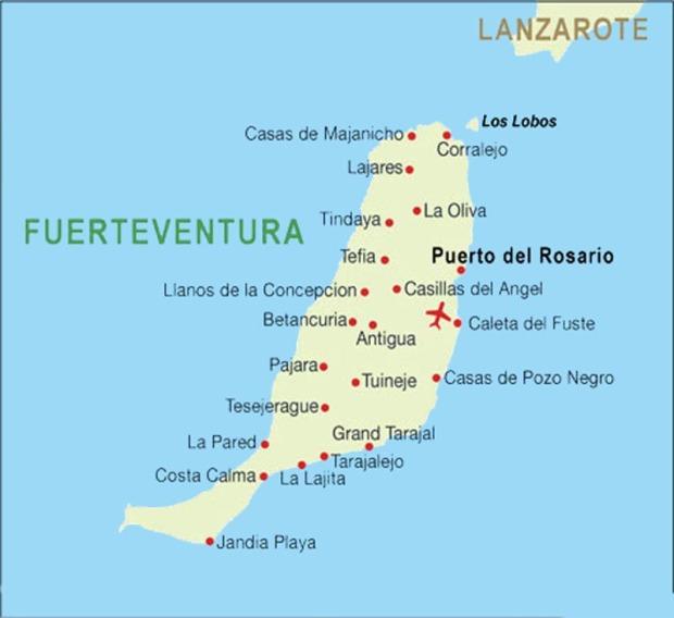 cartina fuerteventura case vacanze